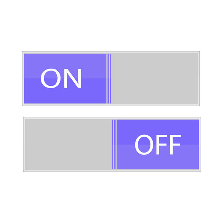 On off vector icon, switch symbol. Modern, simple flat vector illustration for web site or mobile app Vectores