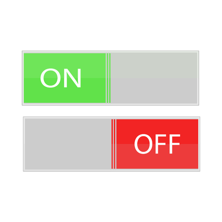 On off vector icon, switch symbol. Modern, simple flat vector illustration for web site or mobile app Illustration