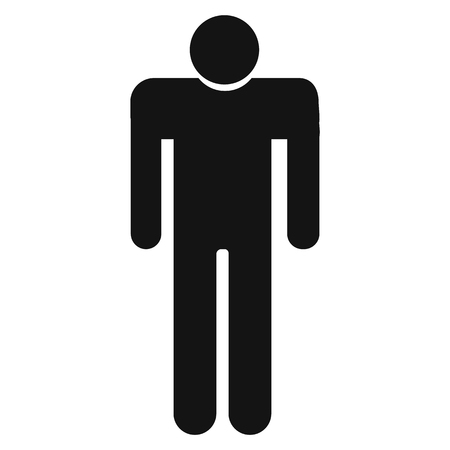 Man Icon vector. Simple flat symbol. Perfect Black pictogram illustration on white background.