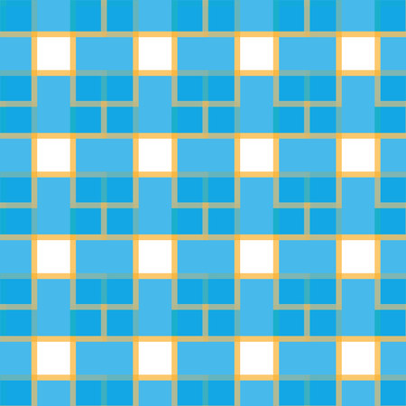 Tile vector pattern with golden ornament on black background Ilustrace