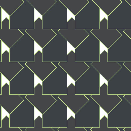 Tile vector pattern with golden ornament on black background Illustration
