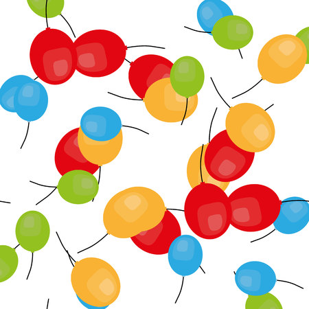 Vector party flat balloons pattern. Great for Birthday, wedding, anniversary, jubilee, rewarding and winning design. Seamless backgrounds. Illustration