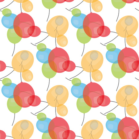 Vector party flat balloons pattern. Great for Birthday, wedding, anniversary, jubilee, rewarding and winning design. Seamless backgrounds. 일러스트