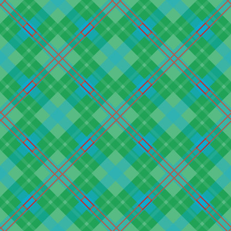 Checkered diagonal plaid seamless pattern. Vector illustration. Flat design. No gradient. No transparent. EPS 10.
