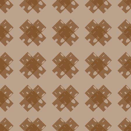 Seamless tartan plaid pattern. Tartan design in pale orange, white & brown stripes on dark red background.