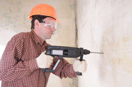 Man with power drill Stock Photo - 3827397