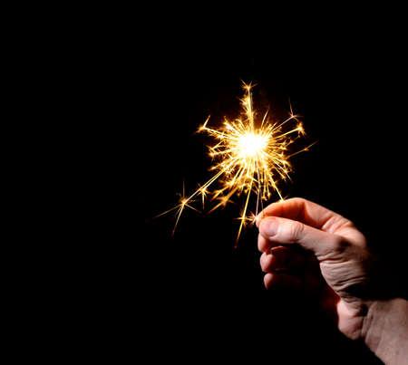 sparkler: Hand with Sparkler