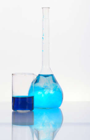 Chemical glassware in the laboratory. Still life photo