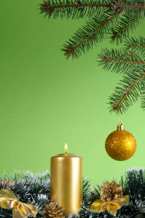 Christmas Candle and  Bauble