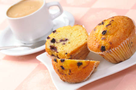muffin: muffin and cup of coffee
