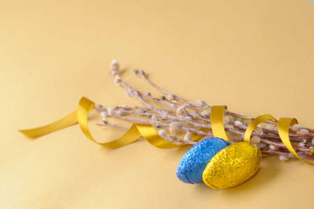 catkins: Easter eggs and catkins Stock Photo