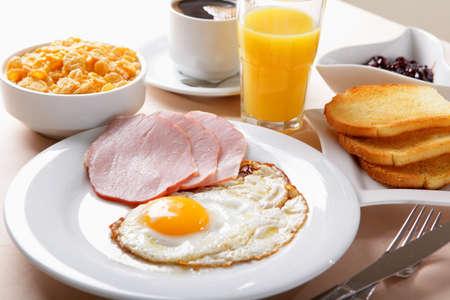 american breakfast Фото со стока