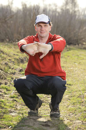Man exercising outdoors at springtime Stock Photo - 4729123