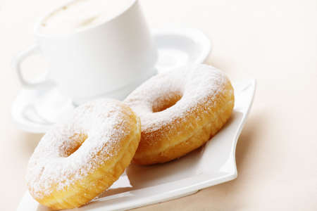 donuts with coffee photo