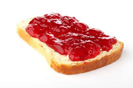 dżem: Grzanka z masła i czerwona porzeczka zakleszczenie