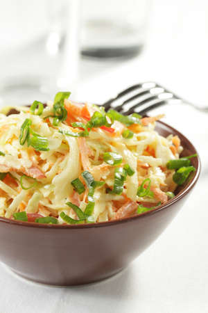 cabbage: Cole slaw salad in the bowl