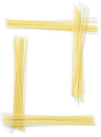 flattened: Frame made of Linguine, flattened spaghetti