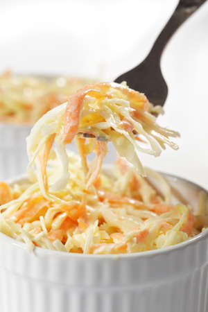 Cole slaw salad in the bowl