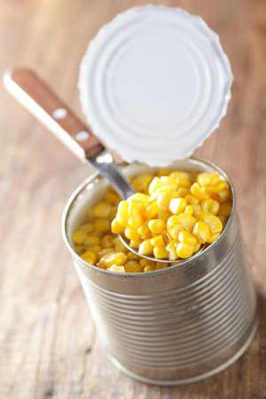Canned sweet corn in the jar closeup Stock Photo - 8549791