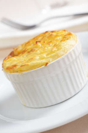 Cottage pie in the small stoneware baker photo