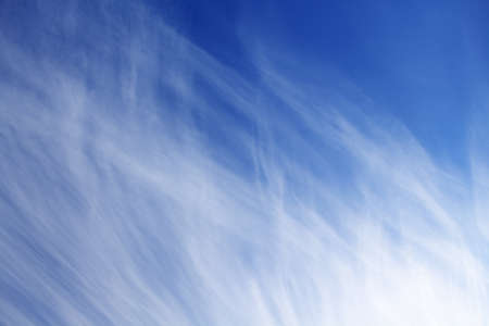 Blue sky with cirrus clouds photo