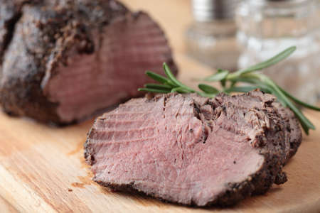 Slices of roast beef closeup Stock Photo - 12075132