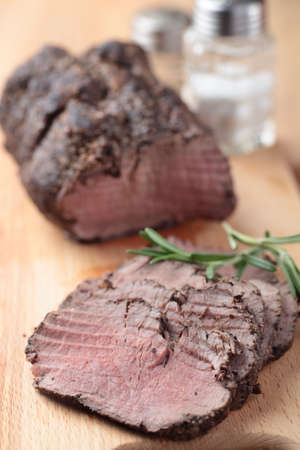 Slices of roast beef closeup Stock Photo - 12398732