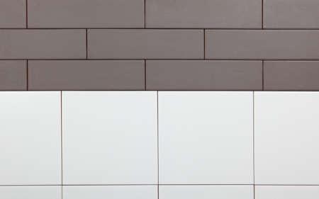 clinker tile: Antecedentes de baldosas blancas y marrones