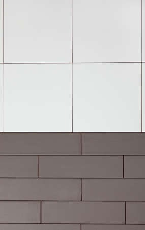 clinker tile: Background of white and brown tiles