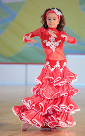 olympiad: MOSCOW, RUSSIA - MAY 2: Unidentified girl dance during IX World Dance Olympiad in Moscow, Russia at May 2, 2012
