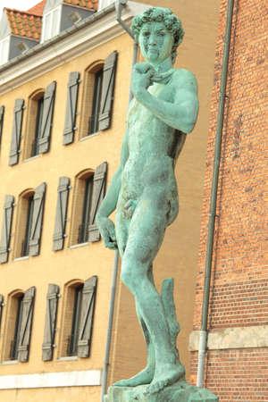 Copy of Michelangelos David in Copenhagen, Denmark photo