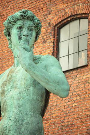 Replica of Michelangelos David in Copenhagen, Denmark photo