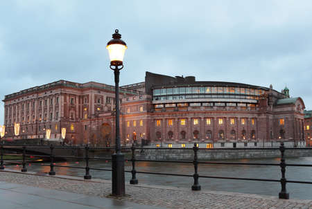 Parliament House in Stockholm, Sweden photo