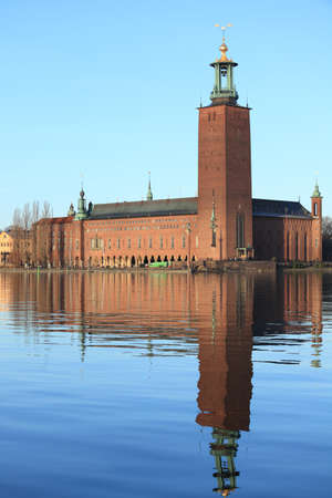 View to Stockholm City Hall from Riddarholmen photo