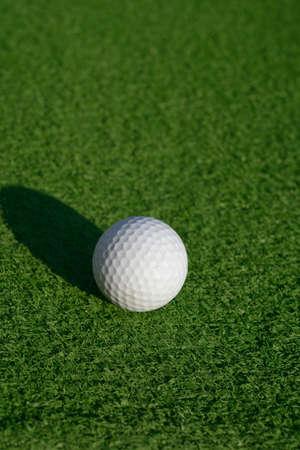 Minigolf ball on a course photo