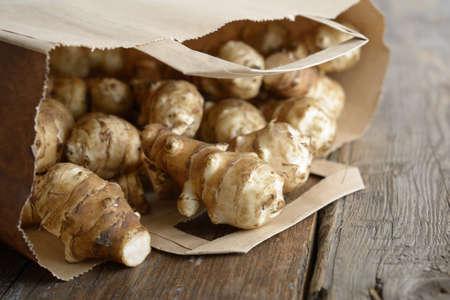 paper bag: Jerusalem artichoke in a paper bag