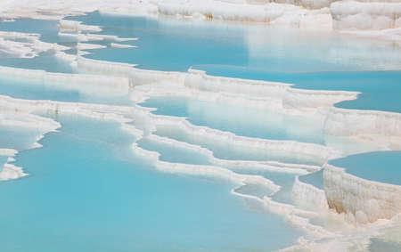 pamukkale: Travertine terraces of Pamukkale, Turkey