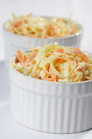 Cole slaw salad in a bowl Stock Photo