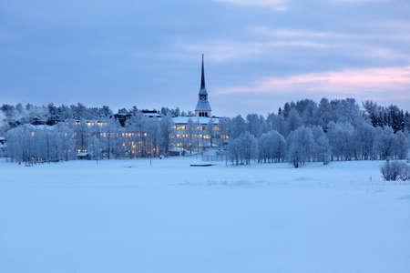 Winter landscape in Kuusamo, Finland photo