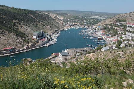 Aerial view to the harbor of Balaklava, Crimea. Stock Photo - 20352991