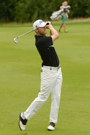 Moscow, Russia - July 28, 2013: Michael Hoey of Northern Ireland in action during final round of the M2M Russian Open at Tseleevo Golf & Polo Club in Moscow, Russia on July 28, 2013