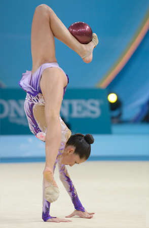 Kiev, Ukraine - August 30, 2013  Neta Rivkin of Israel in action during the 32nd Rhythmic Gymnastics World Championships in Kiev, Ukraine on August 30, 2013