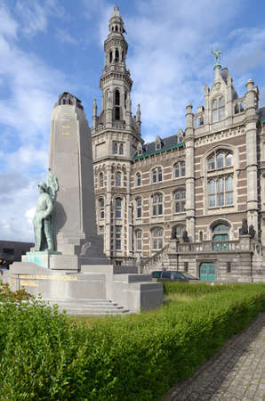 pilotage: Pilotage authority building and the monument to seamen died for Belgium in Antwerp