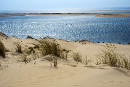 Dune of Pilat, France is the tallest sand dune in Europe Imagens