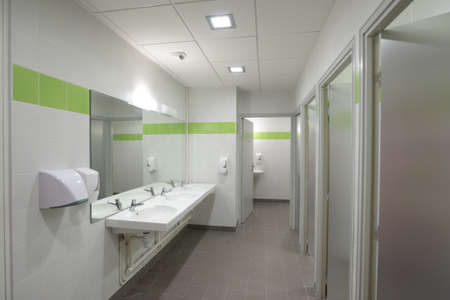 public toilet: Interior of a public toilet Editorial