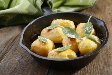 cast iron pan: Baked potato in a cast iron pan