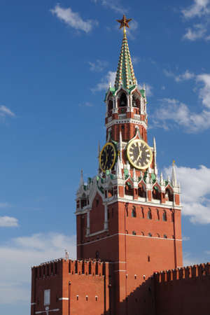 spasskaya: Spasskaya tower of Moscow Kremlin, Russia