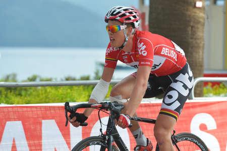 breen: Marmaris, Turchia - 30 aprile 2014 Vegard Breen dal team Lotto - Belisol sul finale della 4 ^ tappa del 50 � Presidential Cycling Tour of Turkey