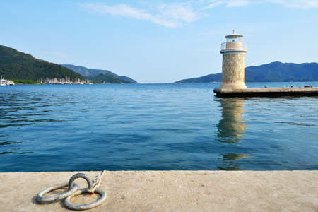 Lighthouse in the bay of Marmaris, Turkey photo