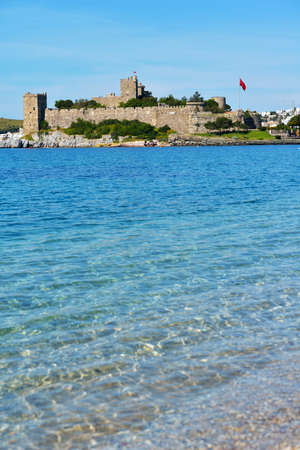 housed: View to Bodrum castle, Turkey  Built in XV century, now the castle housed the Museum of Underground Archeology